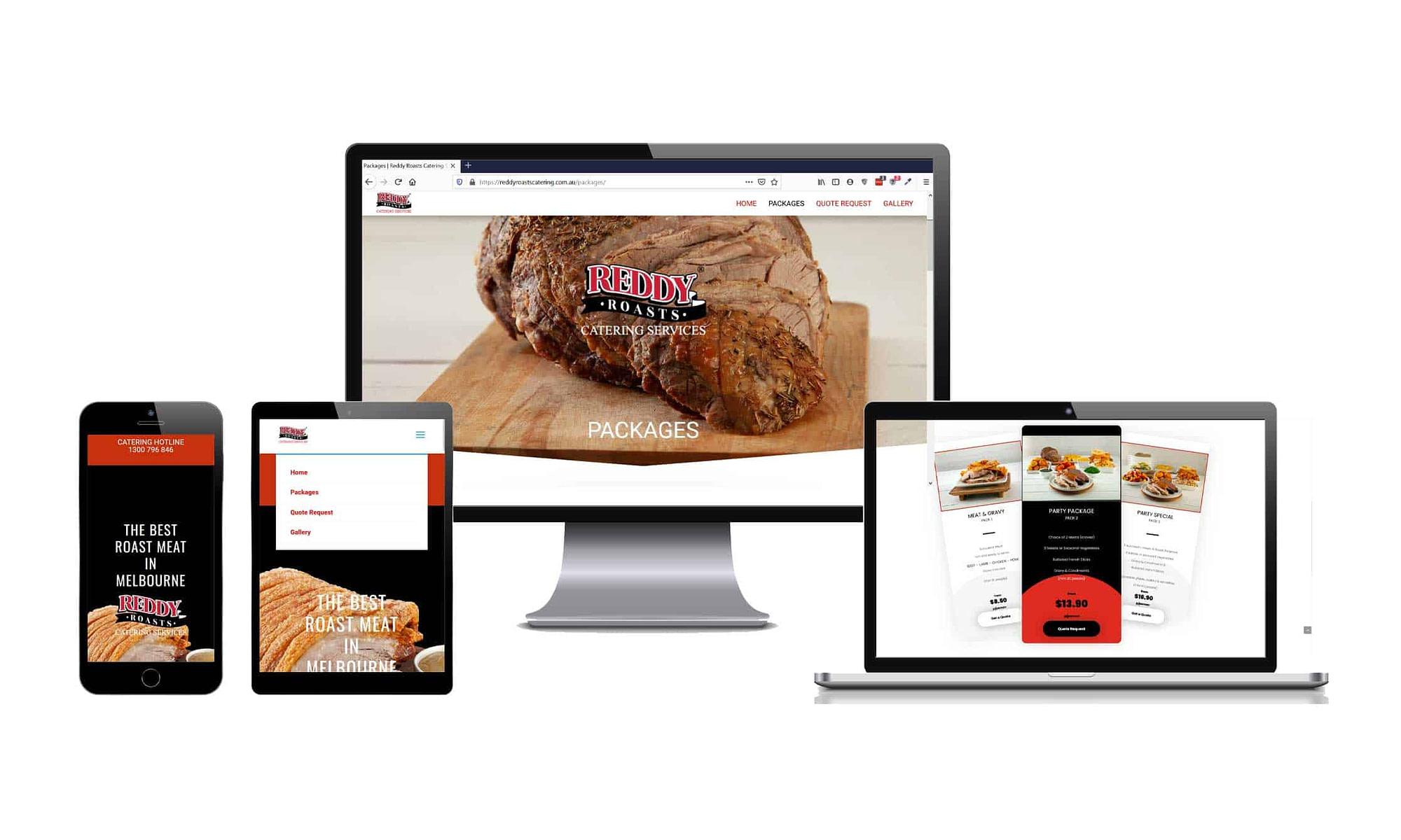 Reddy Roasts Catering Web Design